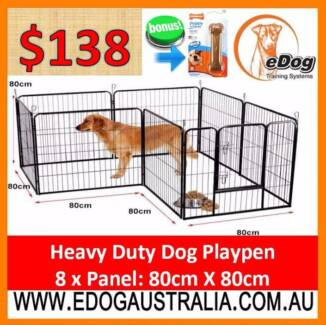 NEW Heavy Duty Pet Dog Playpen Exercise Fence 8 Panel Enclosure