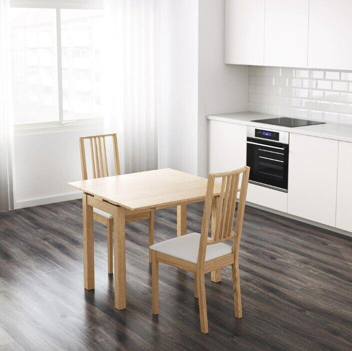 BJURSTA Extendable Table, Oak Veneer, 50/70/90 X 90 Cm