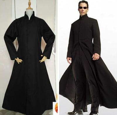 Schwarz Kostüm Reich Hacker Cyber Cosplay Party Uniform Herren Fancy Cape (Kostüm Schwarz Cape)