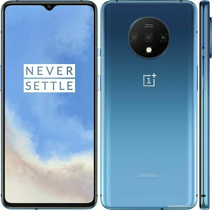 OnePlus 7T  HD1907 128 256GB Frosted Silver Glacier Blue GSM Unlocked Smartphone