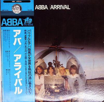 "ABBA ""Arrival "" rare 1977 Japan original Lp w/BLUE Obi/lyrics sheet! Bjorn Benny"