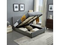 CHEAPEST PRICE EVER - NEW LUCY BED FRAME PLUSH VELVET FABRIC HIGH QUALITY AND SAME DAY DELIVERY