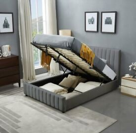 Get Free Delivery===Plush Velvet Double/King Size Lucy Storage Bed With Basic Mattress