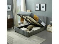 Get Fast Delivery---New Plush velvet Lucy storage bed frame **Optional mattress**