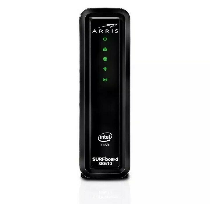 ARRIS SBG10 SURFboard  AC1600 Dual-Band Cable Modem  Router - Black