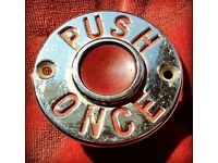 Vintage push-button bell