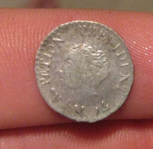 Haiti - 1817 Silver 12 Centimes - Nice Coin!