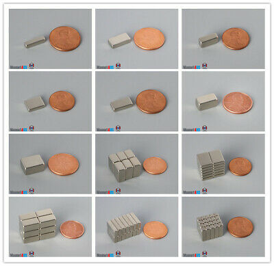 Multiple Sizes 12.7mm 12 Length Bar Rare Earth Neodymium Block Magnets N45n52