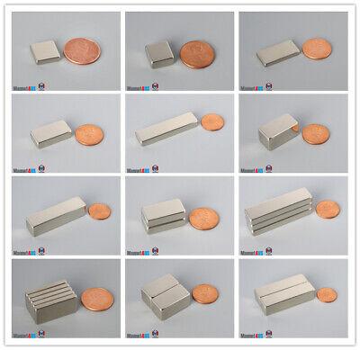 12.7mm 12 Width Bar Magnet Length Magnetized Rare Earth Neodymium Block