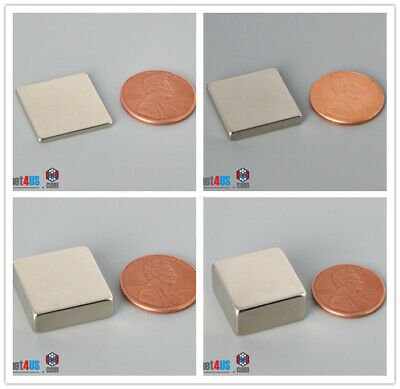 Multiple Thickness 19mm 34 Width Square Rare Earth Neodymium Block Bar Magnets
