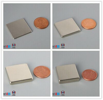 Multiple Thickness 25mm 1 Width Block Rare Earth Neodymium Strong Square Magnet