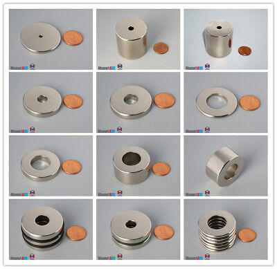 Multiple Size 38mm Od Strong 1.5 Out Diameter Rare Earth Neodymium Ring Magnet