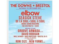 The Downs Bristol Festival tickets x 2