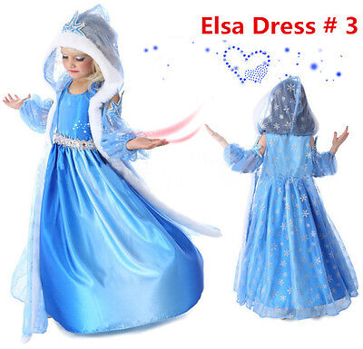 Dressing Up Kids (Frozen Princess ELSA Let It Go Costume Dress Cosplay Party Dress)