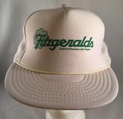 Vintage Fitzgeralds Casino Las Vegas Snapback Trucker Hat Cap Mesh Foam (Casino Hat)