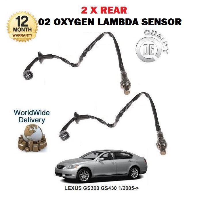 FOR LEXUS GS300 GS430 2005->NEW 2X REAR EXHAUST POST CAT 02 OXYGEN LAMBDA SENSOR