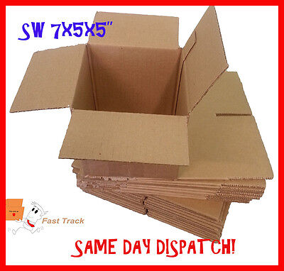 5 x SMALL GIFT MAILING POSTAL CARDBOARD BOXES 7x5x5