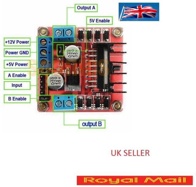 Stepper Motor Drive Controller Board Module L298N Dual H Bridge DC  Arduino B168