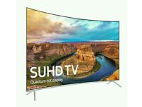 "Samsung 65"" SUHD Curved smart tv WI-FI Quantum Dot display HD freeview"