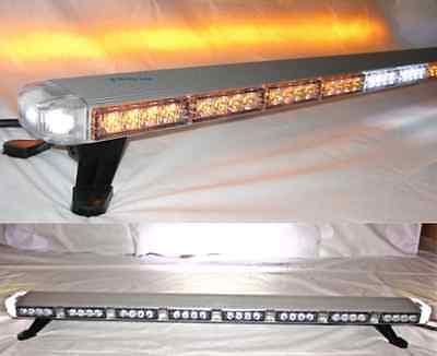 47 Amber Led Light Bar Tow Truck Plow Roll Back W Cargo Braketurn Signal