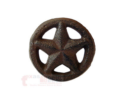 Rustic Texas Star with Ring Round Knobs Drawer Cabinet Pulls Western 2 - Star Drawer Pulls