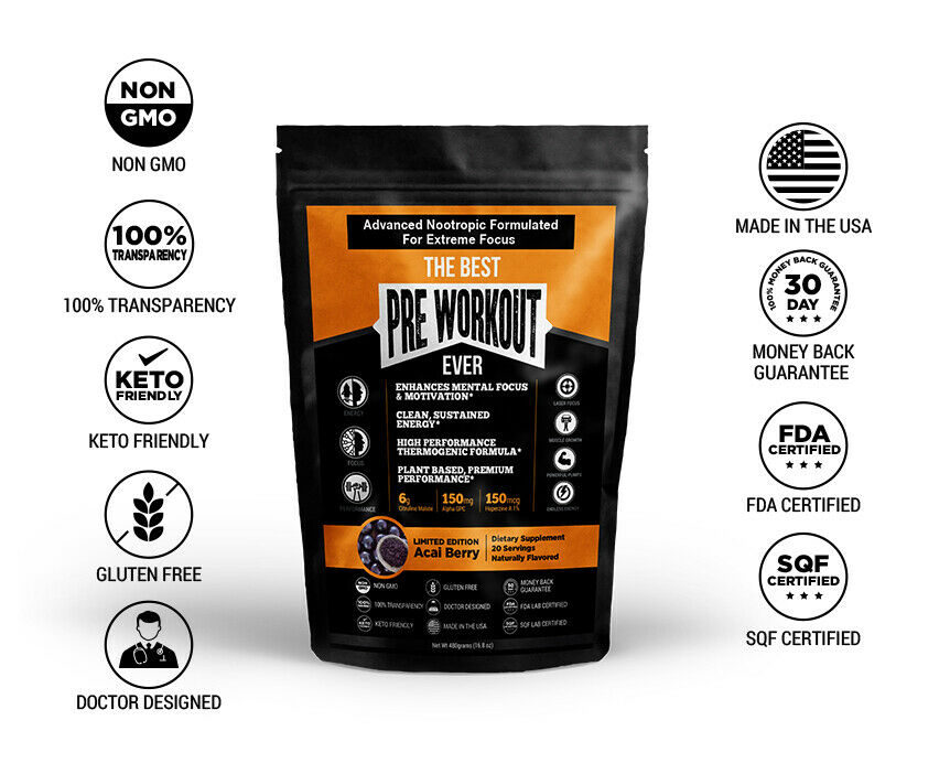 The Best Pre Workout Ever All Natural Nootropic Preworkout P