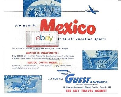 Guest Airways Mexico Go South To Get Cool  Mexico Coolest Of Vacations Brochure