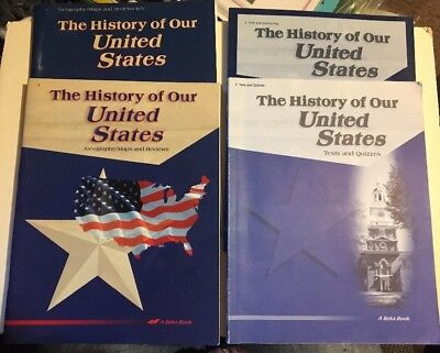 Abeka The History Of The United States Lot Grade 4 4th Tests Maps Keys A Beka 2e for sale  Willmar