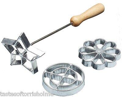 Kitchen Craft Swedish Scandinavian Rosette Iron Biscuit / Cookie Maker Stamp