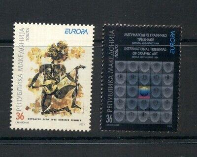 Macedonia  #264-65 (2003 Europa set) VFMNH CV $4.00