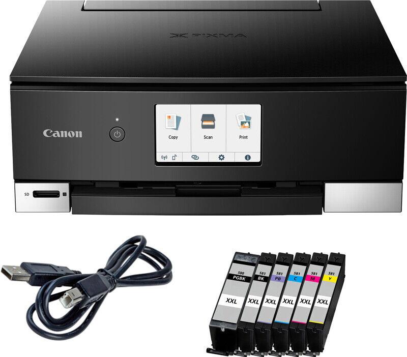 Canon Pixma TS 8350 Drucker Scanner Kopierer WLAN CD-Druck inkl. 6 XXL Patr.