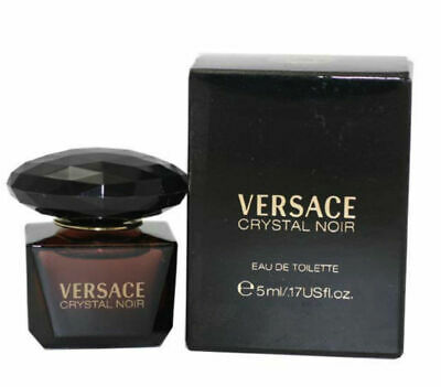 Crystal Noir for Women by Versace EDT Miniature Splash 0.17 oz - New in Box