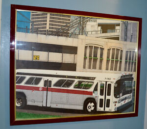 DESSIN AUTOBUS MONTREAL STRSM - BUS DRAWING