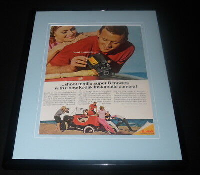 Used, 1966 Kodak Instamatic Camera / Super 8 Framed 11x14 ORIGINAL Advertisement  for sale  Belle Vernon