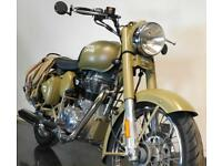 2017 17 ROYAL ENFIELD BULLET 500 EFI MILITARY EDITION PROJECT TRADE SALE 2K CATN