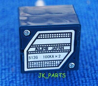 Original Alps Rk27 27 Type Dual 100k Potentiometer Brand New