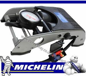MICHELIN-12202-Double-Barrel-Piston-Car-Van-Cycle-Bike-Tyre-Inflator-Foot-Pump