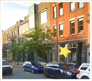 Retail storefront  space in Mile End on Blvd. St-Laurent