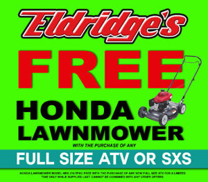 FREE Lawnmower with ATV or SXS Purchase