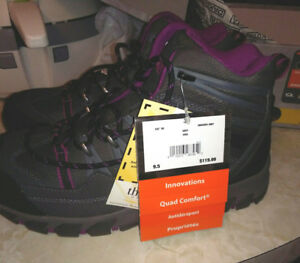 Women's size 9.5 steel toe hiking boots