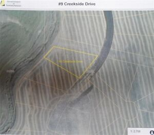 Creekside lot for sale in Melfort!