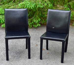Small Elegant Leather Chairs (2)