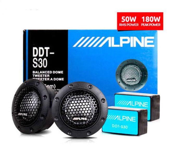 ALPINE DDT-S30 A Pair Dome Car Audio Component Tweeters 360W Enhance Sound Music