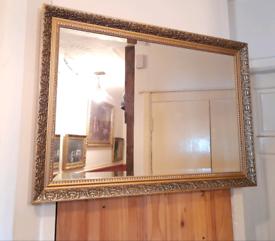 Beautiful Ornate Gilt Framed Rectangle Bevelled Edge Mirror