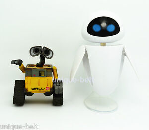 new lot 2 pcs wall e eve pixar action figure toys robot. Black Bedroom Furniture Sets. Home Design Ideas