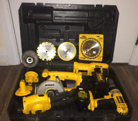 DeWalt Power Tools Set, 14.4V XPR With Hard Case, Good Condition