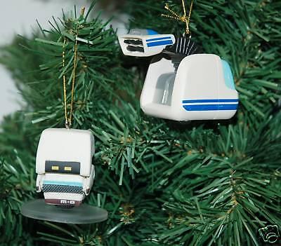 Wall-E, M-O, Vacuum BOT, Christmas Ornaments