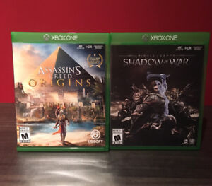 Xbox One-Assassin's Creed Origins+Middle Earth Shadow of War
