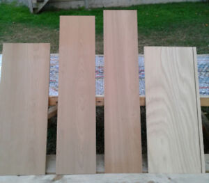 3 Lengths of Cherry Wood and 1 Piece of Oak