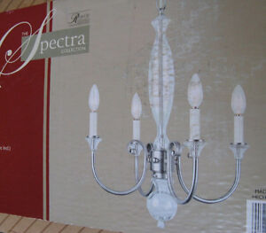 Brand New Spectra 4 Light Chandelier with Polished Nickel Finish
